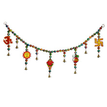Load image into Gallery viewer, 'The Holy Hanging' Hand-Painted Decorative Toran In Ashok Wood