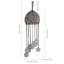 "Load image into Gallery viewer, ""Ocean Breeze"" Handmade & Hand-Painted Garden Decorative Hanging & Wind Chime In Terracotta"