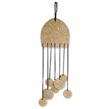 "Load image into Gallery viewer, ""Zephyr's Tune"" Handmade & Hand-Painted Garden Decorative Hanging & Wind Chime In Terracotta"
