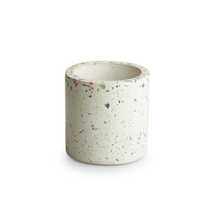 'The Ivory Planter' Handcrafted Terrazzo Planter In Concrete
