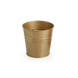 """The Golden Bucket"" Wall Planter Pot With Towel Hook In Galvanized Iron"