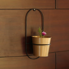 "Load image into Gallery viewer, ""The Arched Bucket"" Wall Planter Pot In Galvanized Iron"