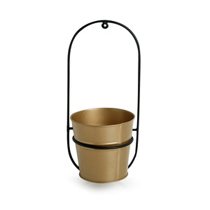 """The Arched Bucket"" Wall Planter Pot In Galvanized Iron"