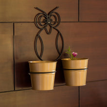 "Load image into Gallery viewer, ""The Owl Buckets"" Wall Planter Pots In Galvanized Iron (Set of 2)"