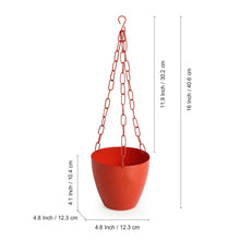 "Load image into Gallery viewer, ""The Chained Frustums"" Hanging Planter Pots With Chain In Iron (Set of 2)"