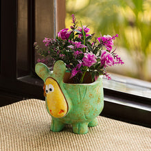 Load image into Gallery viewer, 'Curios Sheep' Handmade & Hand-painted Planter Pot In Terracotta (6 Inch)