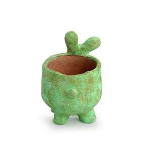 'Curios Sheep' Handmade & Hand-painted Planter Pot In Terracotta (6 Inch)