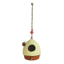 Load image into Gallery viewer, 'Swinging Nest' Handmade & Hand-painted Bird House In Terracotta (6 Inch)