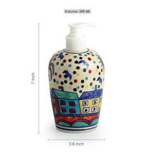 Load image into Gallery viewer, 'The Hut Essentials' Hand-Painted Ceramic Bathroom Accessory Set Of 3