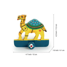 Load image into Gallery viewer, 'The Camel Drape' Hand-Painted Towel Holder In Chilbil Wood
