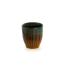 Load image into Gallery viewer, The 'Amber & Teal' Studio Pottery Bathroom Accessory In Ceramic (Set of 2)