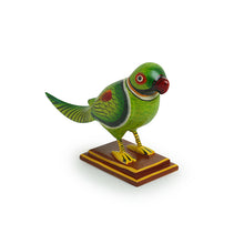 Load image into Gallery viewer, 'The Curious Parrot' Intricate Hand-Painted Showpiece In Gullar Wood