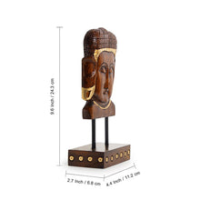 "Load image into Gallery viewer, ""Enlightened Buddha"" Hand Carved Wooden Sculpture Showpiece (9.6 Inch)"