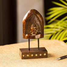 "Load image into Gallery viewer, ""Divine Buddha"" Hand Carved Wooden Sculpture Showpiece (8.3 Inch)"
