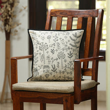 Load image into Gallery viewer, 'Glimpse of Nature' Handstitched Cushion Cover In Cotton