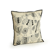 Load image into Gallery viewer, 'Stitch On The Canvas' Handstitched Cushion Cover In Cotton