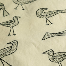 Load image into Gallery viewer, 'The Dancing Birds' Handstitched Cushion Cover In Cotton