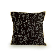 Load image into Gallery viewer, 'Glimpse of Village' Handstitched Cushion Cover In Cotton