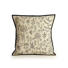 Load image into Gallery viewer, 'The Contrasting Villages' Handstitched Cushion Cover In Cotton (Set Of 2)