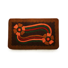 "Load image into Gallery viewer, ""Floral Link"" Hand Felted Rectangular Door Mat In Sheep Wool (29 Inch)"