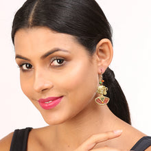 "Load image into Gallery viewer, ""Tribal Beauties"" Bohemain Brass Earrings Handcrafted In Dhokra Art"