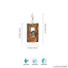 Load image into Gallery viewer, 'Tribal Dhokra Leafy' Bohemian Earrings Handmade In Dhokra Art (Brass, Wood, 3 Inch)