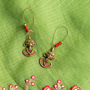 'Tribal Dhokra Ladies' Bohemian Earrings Handmade In Dhokra Art (Brass, 3.3 Inch)