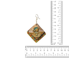 Load image into Gallery viewer, 'Tribal Dhokra Ladies' Bohemian Earrings Handmade In Dhokra Art (Brass, Wood, 3.2 Inch)
