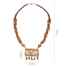 "Load image into Gallery viewer, ""Tribal Lady Strands"" Bohemian Brass Necklace Handcrafted In Dhokra Art (Matinee)"