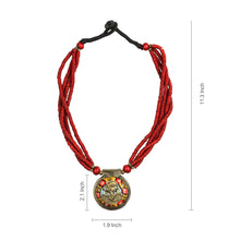 "Load image into Gallery viewer, ""Tribal Woman Strands"" Bohemian Brass Necklace Handcrafted In Dhokra Art (Bib)"
