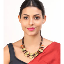 "Load image into Gallery viewer, ""Tribal Lady Faces"" Bohemian Brass Necklace Handcrafted In Dhokra Art (Bib)"