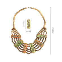 "Load image into Gallery viewer, ""Tribal Men Beaded"" Bohemian Brass Necklace Handcrafted In Dhokra Art (Bib)"