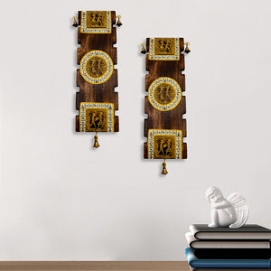Dhokra And Warli Handpainted Wall Hanging Set