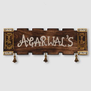 Customizable Dhokra Name Plate With Handwritten Fonts