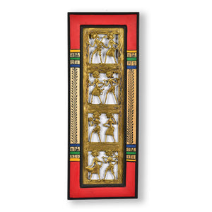 Dhokra Work And Warli Handpainted Vertical Wall Décor