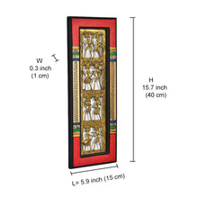 Load image into Gallery viewer, Dhokra Work And Warli Handpainted Vertical Wall Décor