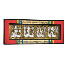 Load image into Gallery viewer, Dhokra Work And Warli Handpainted Horizontal Wall Décor