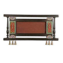 Load image into Gallery viewer, Teak Wood Plain Name Plate With Warli & Dhokra Art