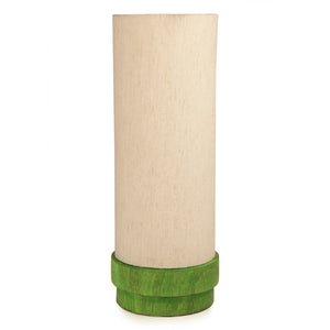14 Inch Wooden Lamp Green