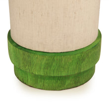 Load image into Gallery viewer, 14 Inch Wooden Lamp Green