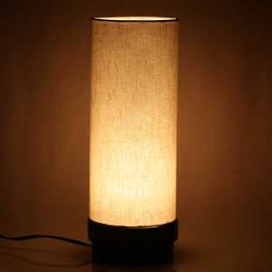 14 Inch Wooden Lamp Turqouise Blue