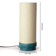 Load image into Gallery viewer, 14 Inch Wooden Lamp Turqouise Blue