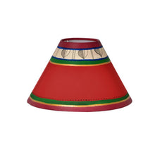 Load image into Gallery viewer, 19 Inch Dhokra Figurine & Warli Handpainted Wooden Lamp Brown