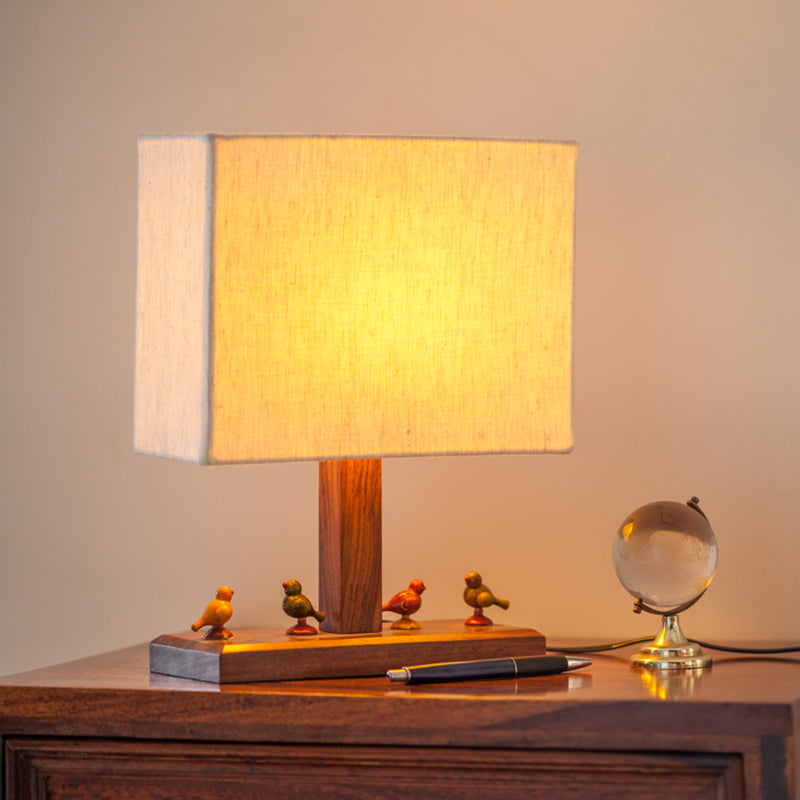 12 Inch Parrot Table Lamp In Sheesham Wood