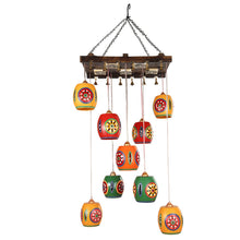 Load image into Gallery viewer, Barrel Shaped Chandelier With Metal Hanging Shades (10 Shades)