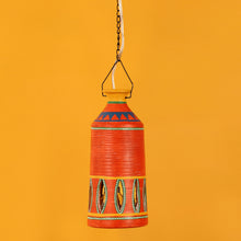 Load image into Gallery viewer, 'The Light Carrier' Terracotta Pendant Cum Hanging Lamp In Tangerine Orange