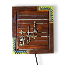 Load image into Gallery viewer, 'Light In A Box' Sheesham Wood Wall Lamp With Dhokra Art