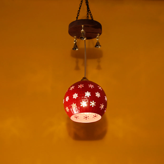 Dome Shaped Pendant Hanging Lamp Shade In Red (1 Shade)