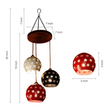 Load image into Gallery viewer, Dome Shaped Chandelier With Metal Hanging Lamp Shades (3 Shades)