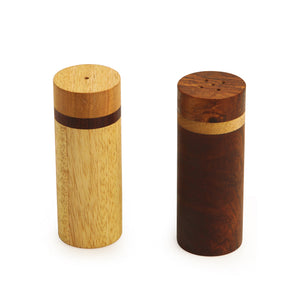 Elegant Salt & Pepper Shaker In Brown